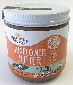... Products / Seed Butters / Organic Cinnamon Vanilla Sunflower Butter